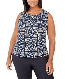 Calvin Klein Plus Size Sleeveless Printed Top