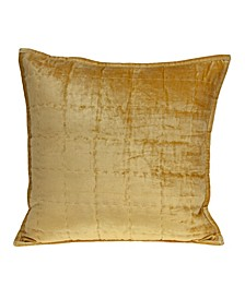 Copan Transitional Yellow Solid Quilted Pillow Cover