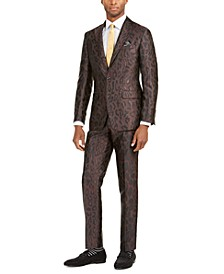 Men's Slim-Fit Leopard Print Suit Separates