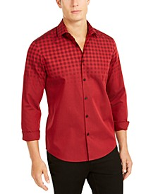 Men's Classic-Fit Ombré Buffalo Check Shirt, Created For Macy's