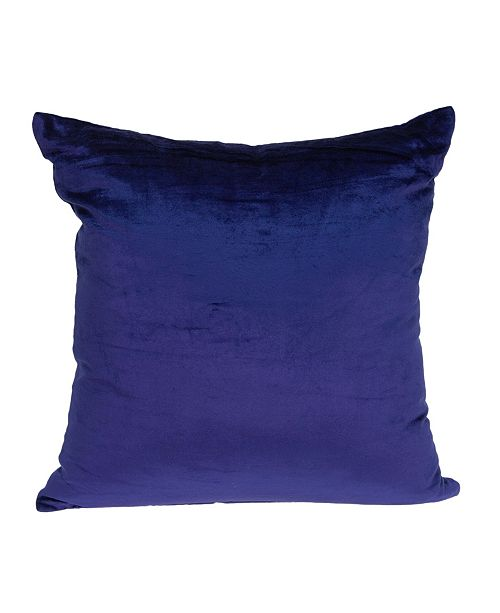 Parkland Collection Topaz Transitional Royal Blue Solid Pillow Cover With Down Insert