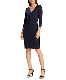 Lauren Ralph Lauren Petite Jersey Three-Quarter-Sleeve Dress