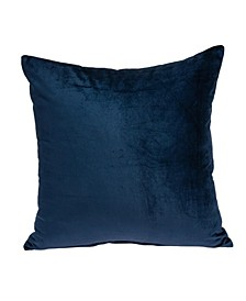 Jugo Transitional Navy Blue Solid Pillow Cover