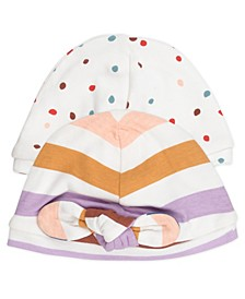 Baby Girl 2-Pack Knotted Fashion Caps
