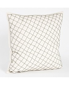 "Diamond Design Beaded Throw Pillow, 18"" x 18"""