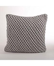 "Chunky Knit Throw Pillow, 20"" x 20"""
