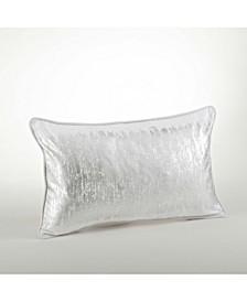 "Metallic Banded Design Pillow, 12"" x 20"""