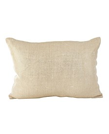 "Metallic Foil Design Burlap Jute Throw Pillow, 14"" x 20"""