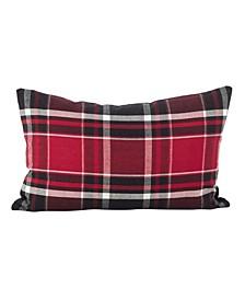 "Tartan Plaid Pattern Cotton Throw Pillow, 12"" x 20"""