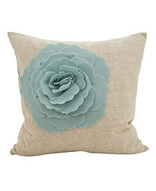 "Rose Flower Statement Throw Pillow, 18"" x 18"""