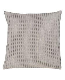"Stitched Design Cotton Throw Pillow, 20"" x 20"""