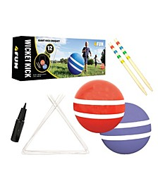 4Fun Wicket Kick Giant Kick Croquet Outdoor Game For Kids