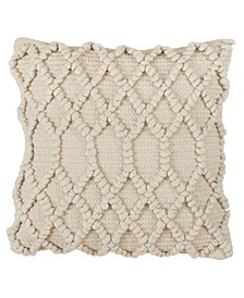 """Diamond Weave Wool Blend Pillow - Cover Only, 18"""" x 18"""""""