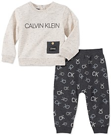 Calvin Klein Baby Boys 2-Pc. French Terry Top & Pants Set