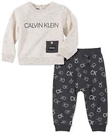 Calvin Klein Baby Boys 2-Pc. French Terry Top & Pants Set