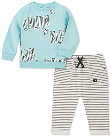 Baby Boys 2-Pc. French Terry Sweatshirt & Pants Set