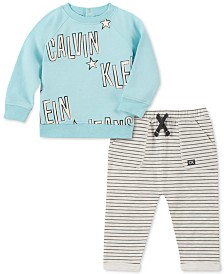 Calvin Klein Baby Boys 2-Pc. French Terry Sweatshirt & Pants Set
