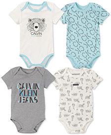 Calvin Klein Baby Boys 4-Pk. Bodysuits