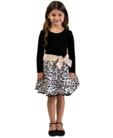 Big Girls Drop-Waist Glitter-Print Dress