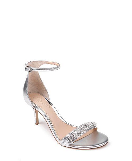 Jewel Badgley Mischka Randy Ornamented Sandals