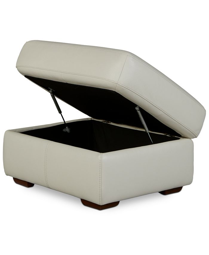"Furniture - Jaspene 30"" Leather Storage Ottoman"