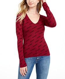 V-Neck Logo Sweater