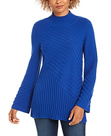 Mixed-Stitch Mock-Neck Sweater, Created for Macy's