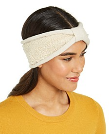 Knit and Faux-Shearling Headband