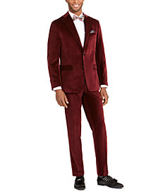 Tallia Men's Velvet Suit Seperates