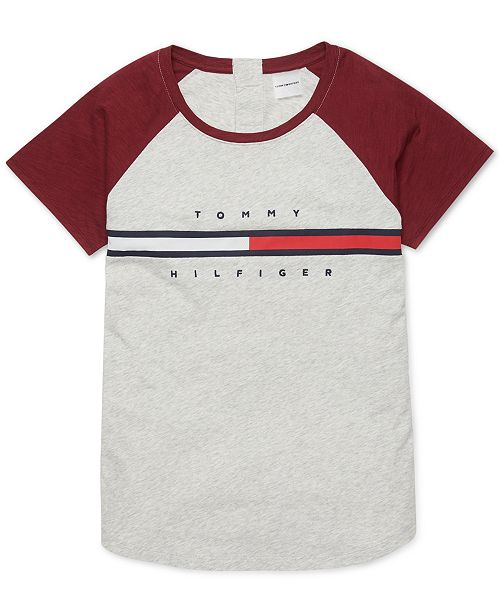 Tommy Hilfiger Women's T Shirt with Magnetic Buttons