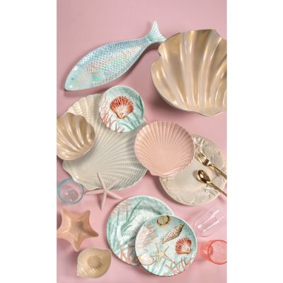 Coral Reef Figural Shell Platter