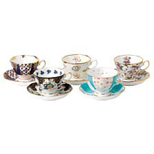 Royal Albert 100 Years 1900-1940 5-Piece Teacup & Saucer Set