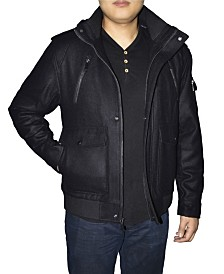 Victory Sportswear Retro Men's Hooded Wool Blend Jacket