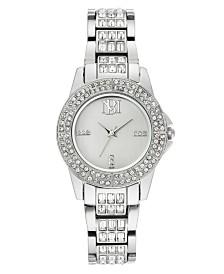 Badgley Mischka Ladies Silver-Tone Bracelet with Swarovski Crystal Accents Watch 31.5mm