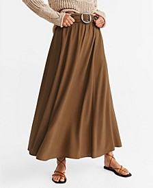 Tortoiseshell Buckle Skirt