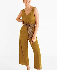 Textured Long Jumpsuit