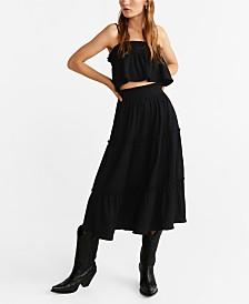 Mango Midi Ruffle Skirt