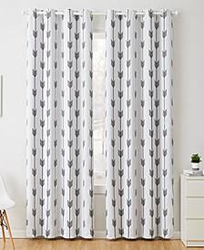 Obscura by Brisbane Print Blackout Grommet Curtain Panels - 52 W x 84 L - Set of 2