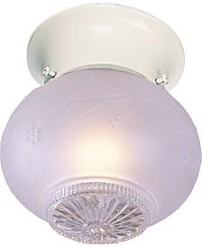 1-Light Mini Flush Mount Ceiling Fixture