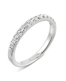 Moissanite Band 1/4 ct. t.w. Diamond Equivalent in 14k White Gold