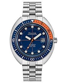 Men's Automatic Archive Devil Diver Stainless Steel Bracelet Watch 44mm