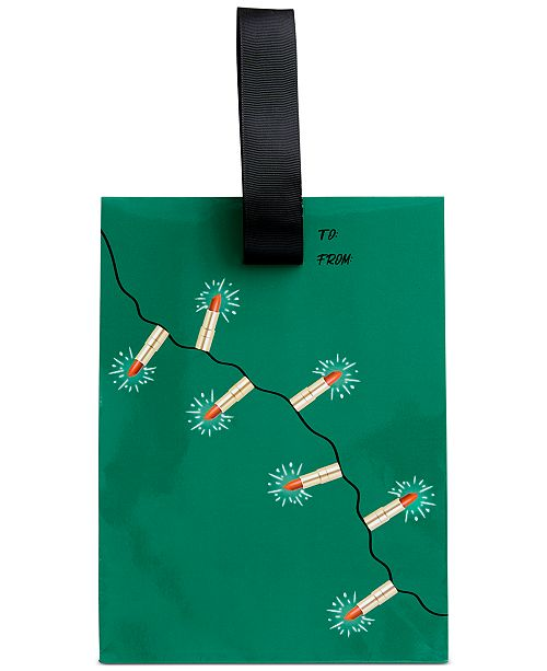 Created For Macy's Lipstick Light Up Tree Gift Bag