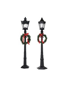 Gerson & Gerson 26-Inch Indoor Holiday Lamp Posts - Set of 2