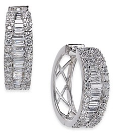 Diamond Baguette Hoop Earrings (1-1/4 ct. t.w.) in 14k White Gold