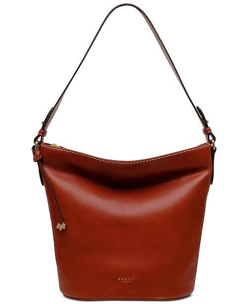 Radley London Zip Top Leather Bucket Bag