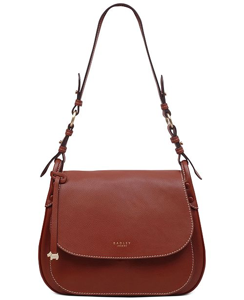 Radley London Flapover Leather Shoulder Bag