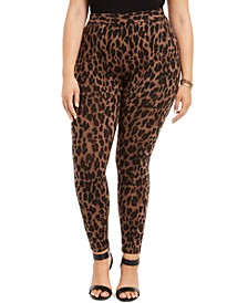 Plus Size Leopard-Print Leggings, Created For Macy's