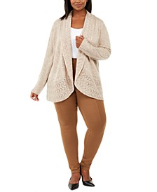 Plus Size Shawl-Collar Cardigan Sweater, Created for Macy's