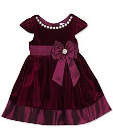 Rare Editions Toddler Girls Embellished Velvet Dress