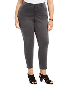 Style & Co Plus Size Sculpt Curvy-Fit Skinny Jeans, Created For Macy's